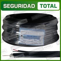 Rollo Cable Coaxial Rg59 Malla Aluminio Bipolar Cctv Pesado