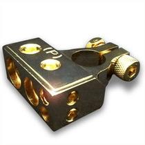 Borne Bateria Potencia Terminal En Oro Monster 0ga 4ga 8ga
