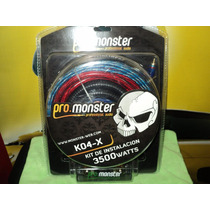 Kit Instalacion Potencia Monster Ko4-x 3500 Watts 4 Gauges