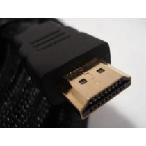 Cable Hdmi 3 Metros 1.4 1080p Fullhd Ficha De Oro 3d Full Hd
