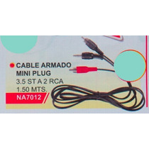Cable Alargue Mini Plug 3,5 St A 2 Rca 1,50 Metros Na 7012