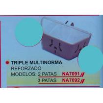 Triple Multinorma 2 Patas Perno Redondo Na 7091