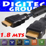 Cable Hdmi 1.8 Mts Doble Filtro 1.4 Full Hd Oro 3d- Cordoba