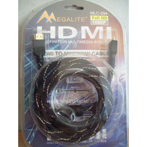 Cable Hdmi A Mini Hdmi 1,80 Mts. 1080p Playstation 3 Mcl 294
