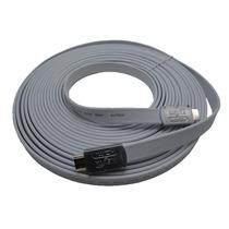 Cable Hdmi Full Hd 1080p 1.4 3d 10 M Dorado Plano Nisuta