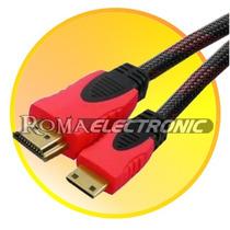 Cable Hdmi A Mini Hdmi Mallado 3,0mts Para Tablet Camaras