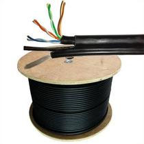 Cable Utp Exterior Con Portante Dielectrico Rj45 Red Poste