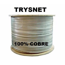 Bobina Cable Trysnet 100% Cobre -inofugo 305m Interior Cat5e