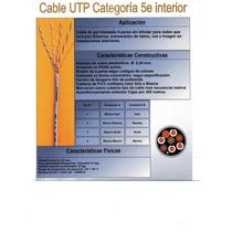 Cable Utp Cat. 5e. Interior Normado Rollo X 60 Mts.