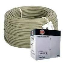 Cable Utp Cat 5e Interior Glc Gris Por Metro Rollo 50mts