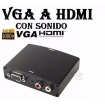 Conversor Vga A Hdmi Tv/pc Full Hd1080 1° Junta Fact A Y B.