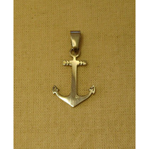 Collar: Dije Ancla + Cadena Acero Quirurgico Navy Unisex