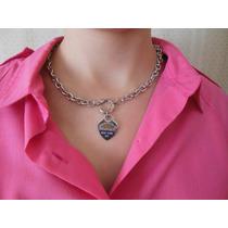 Collar Tiffany Acero Cierre Marinero