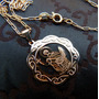 Medallón De San Expedito Oro 14gf 2.5 Cm Diam Con Cadena 45