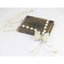 ¡ Solo Divas! Dellicado Collar Con Perlas Blancas Suimuladas