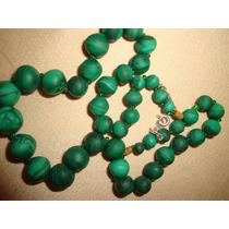 Espectacular Collar Jade~ Antiguo Exelente Color