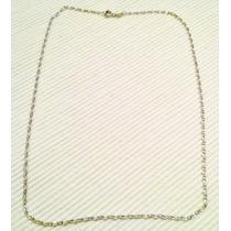 Cadena Eslabon Facetado Oro Gold Filled Blanco 45cm