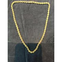 Cadena De Oro 18k Soga Turbillon 41.2 Gramos 52 Cm