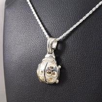 Collar Cadena Dije Vaquita De San Antonio Plata 925 Y Oro18k