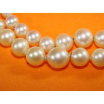 Collar Perlas Naturales Y Diamantes Reina Victoria