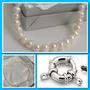 Collar Perlas Naturales Cultivadas Y Plata Cierre Marinero