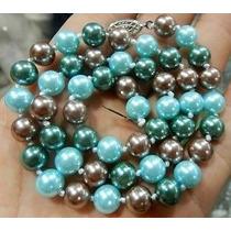 Collar Clásico De Perlas De Cultivo. 7-8 Mm.
