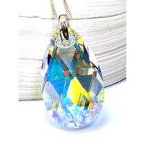 Pear Ab Plata Cristal Original Swarovski-elements.