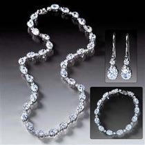 Set De Collar, Pulsera Y Aros Rivieré. Diamantes De Stauer