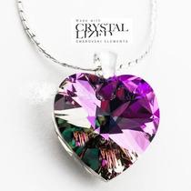 Cadena Con Dije Corazon Crystal 10mm Swarovski Elements