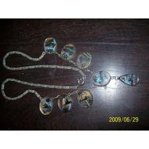 Antiguo Collar De Plata 900 Europeo Dijes De Alas Mariposas