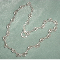 Plata 925 Importante Grueso Collar Cadena Unisex Firmado