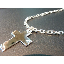 Cadena Forcet Con Cruz Para Hombre Plata 900
