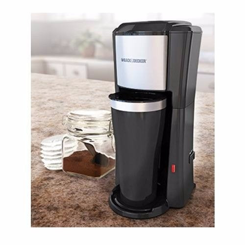 Single Cup Coffee Maker Travel Mug : Single Serve Coffee Maker Black & Decker CM618 16-ounce travel mug eBay