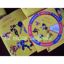 Tarjetas De Invitaciones X 10 Unidades Super Heroes