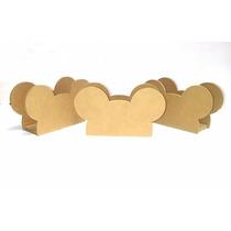 Servilleteros Mickey, Corona, Por 10 Unidades - Fibrofacil