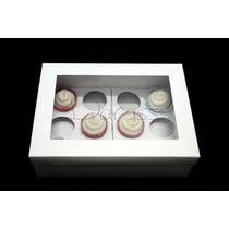 Caja De Cartulina Blanca Para 12 Cupcake