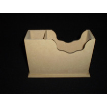 5 Cajas Porta Taco Con Lapicero Fibrofacil Maderarte