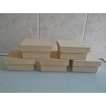 Caja De Fibrofacil De 10x10x7 Con Tapa Zapato X 10 Unidades