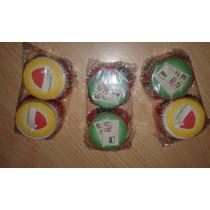 Pirotines Cupcakes Nº10 Navidad Papa Noel X 25 U