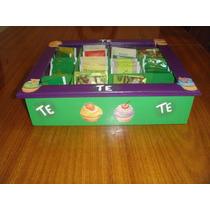 Cajas De Te Madera Artesanal,country,rustico,decoupage
