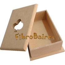 Caja Porta Naipes Fibrofacil Tapa Trebol Calado