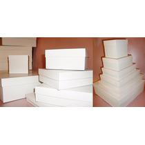 20 Cajas De Cartulina Encapada Blanca 20 X 20 X 5 De 350 Grs