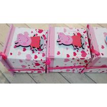 Cajitas Fibrofacil Souvenirs Peppa Pig, X 10 Unidades