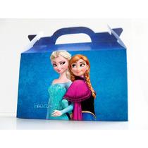 Cajita Souvenirs Frozen Pack X10 Valijitas Infantil