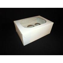 Caja De Cartulina Blanca Para 6 Cupcakes