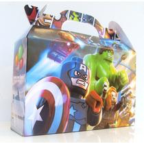 Cajita Souvenirs Super Heroes Lego Pack X10 Valijitas