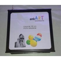 Caja De Té 9 Compatimentos Personalizada Foto Nombre Regalo