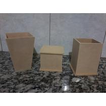 Cajitas,lapiceros,macetas De Fibrofacil 10uni X 38 Pesos