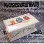 Caja De Te Madera Pintada Chica