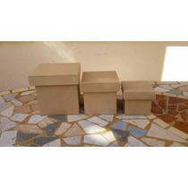 Cajitas De Fibrofacil De 6x6x6 Tapa Zapato